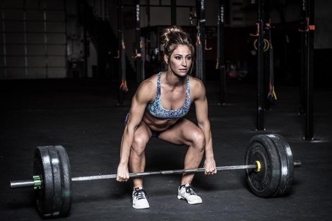 Inicio-decoraci-n-CrossFit-weightlifter-mujer-gimnasio-pose-de-seda-Telas-impresi-n-sy17