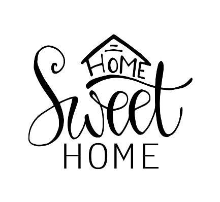 Home Sweet Home - Typography poster